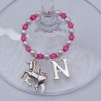 Unicorn Wine Glass Charms
